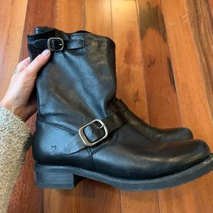 Frye Leather Motorcycle Boots